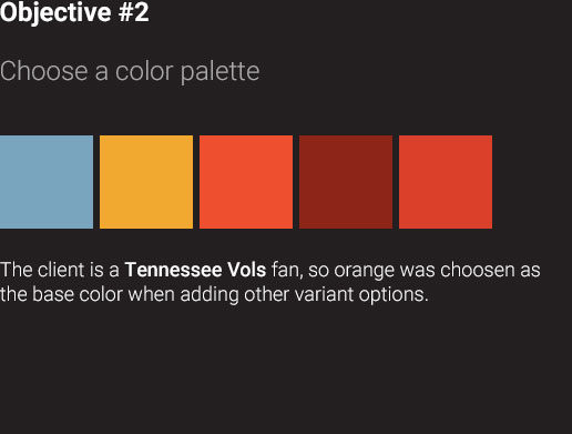 Objective Two — Choose a color palette